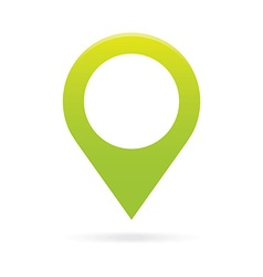 green map pointer icon marker gps location flag vector image