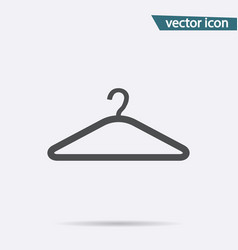 hanger icon flat symbol isolated on white vector image
