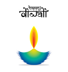 happy diwali indian festival poster design vector image