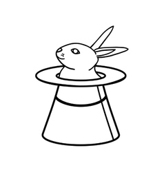 Hat rabbit magic surprise icon graphic vector