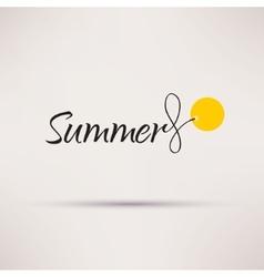 Icon of sale seasonal Summer Isolated vector image