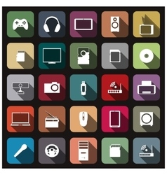 Icons digital devices vector image