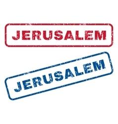 Jerusalem Rubber Stamps vector