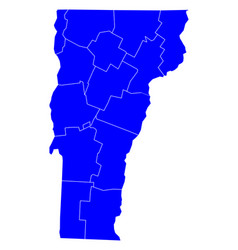 map of vermont vector image