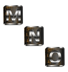 mno iron letters vector image