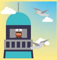 nautical maritime design vector image