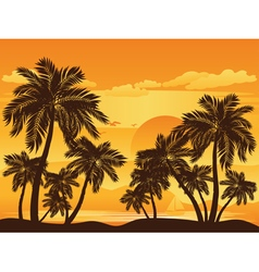 Palm Tree at Sunset4 vector