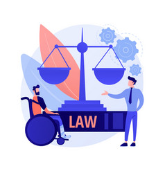 Personal injury lawyer abstract concept vector