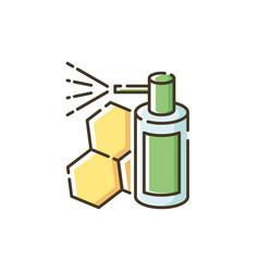 Propolis mouth spray rgb color icon vector