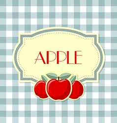 Retro apple label vector