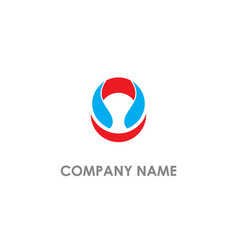 round abstract company logo vector image