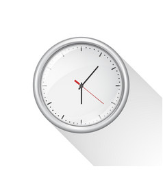 Round wall clock with white body isolated vector