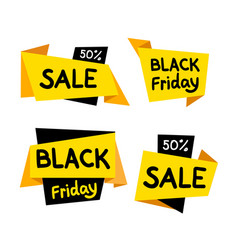sale and black friday tag icons set vector image