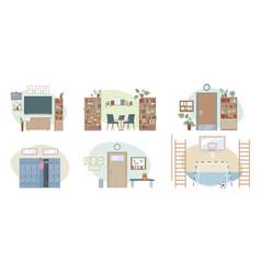 School interior set vector