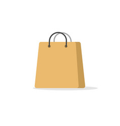 shopping bag paper icon isolated flat vector image