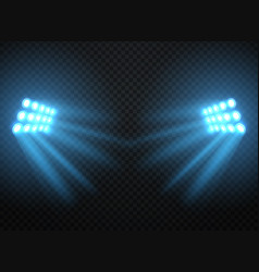 Stadium lights shiny projectors isolated vector