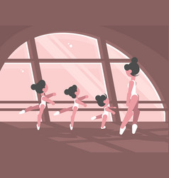 Studio of ballet school vector