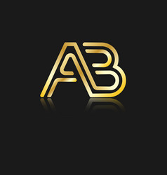 Stylized lowercase letters a and b vector