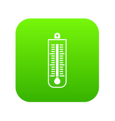 thermometer icon digital green vector image