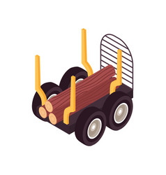 Timber lorry truck composition vector