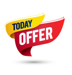 today offer sale template on waving flag vector image