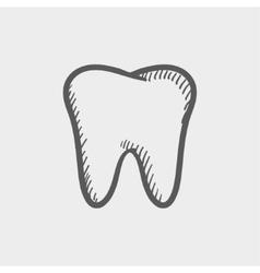 Tooth sketch icon vector