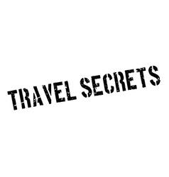 Travel Secrets rubber stamp vector image