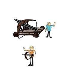 Trebuchet doodle vector