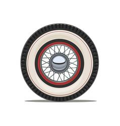 Vintage car wheel with spoke vector