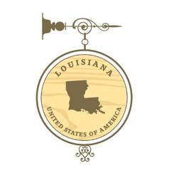 Vintage label Louisiana vector image