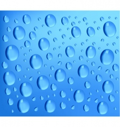 Water drops blue background vector