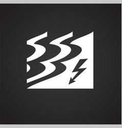 Water flood energy on black backgorund vector