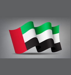 waving united arab emirates flag 3d icon isolated vector image