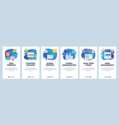 Website and mobile app onboarding screens vector