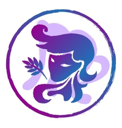 zodiac sign Virgo watercolor vector image
