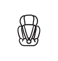 baby car seat sketch icon vector image vector image