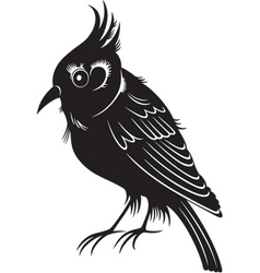 black bird vector image