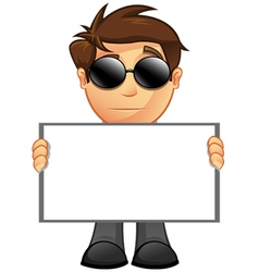 Business Man Blank Sign 14 vector image