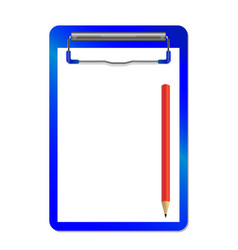folder with clip and red pensil vector image