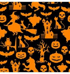 hall pattern black vector image vector image