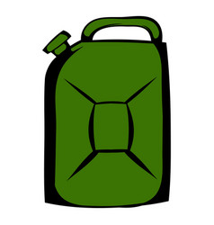 metal canister icon cartoon vector image vector image