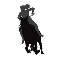 riding a running horse vector image