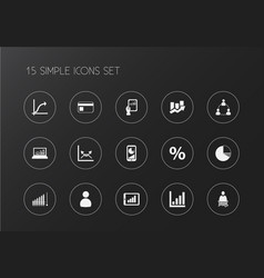 Set of 15 editable logical icons includes symbols vector