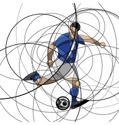 Soccer player in blue and white dress vector image vector image
