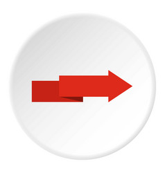 Arrow to right icon circle vector