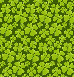 Clovers seamless pattern vector image vector image
