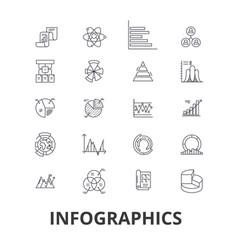 infographics graph information elements arrow vector image