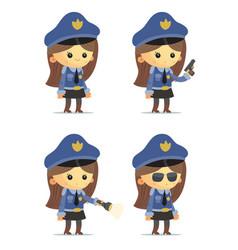 police girls vector image