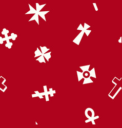 seamless pattern with christian cross vector image vector image