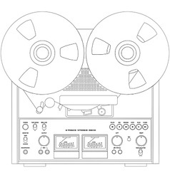 tape recorder vector image vector image